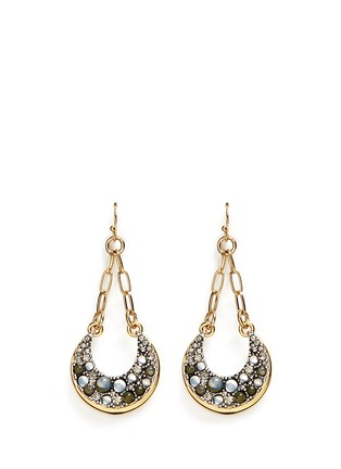 Main View - Click To Enlarge - Lulu Frost - 'Laumière' glass crystal gemstone drop earrings