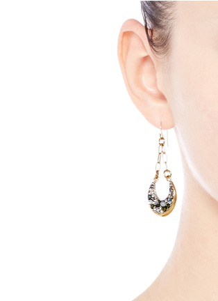 Figure View - Click To Enlarge - Lulu Frost - 'Laumière' glass crystal gemstone drop earrings