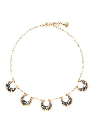 Main View - Click To Enlarge - Lulu Frost - 'Laumière' Swarovski crystal gemstone crescent necklace