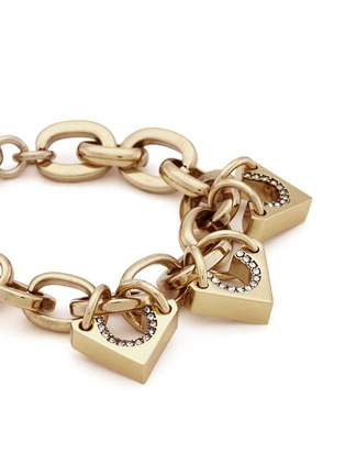 Detail View - Click To Enlarge - Lulu Frost - 'Avron' crystal pavé cutout triangle charm bracelet