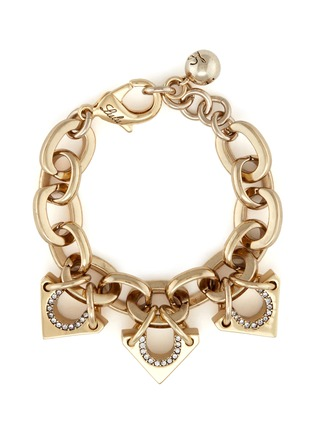 Main View - Click To Enlarge - Lulu Frost - 'Avron' crystal pavé cutout triangle charm bracelet