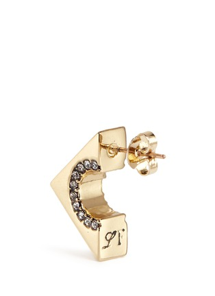Detail View - Click To Enlarge - Lulu Frost - 'Avron' glass crystal pavé cutout stud earrings