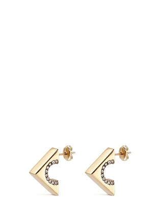 Main View - Click To Enlarge - Lulu Frost - 'Avron' glass crystal pavé cutout stud earrings