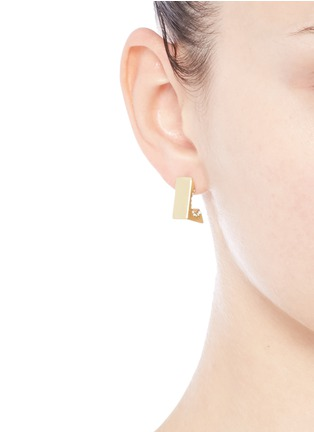 Figure View - Click To Enlarge - Lulu Frost - 'Avron' glass crystal pavé cutout stud earrings