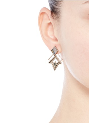 Figure View - Click To Enlarge - Lulu Frost - 'Trocadero' mix gemstone geometric cut-out earrings