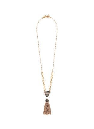 Main View - Click To Enlarge - LULU FROST - Chatelet' mix gemstone tassel necklace
