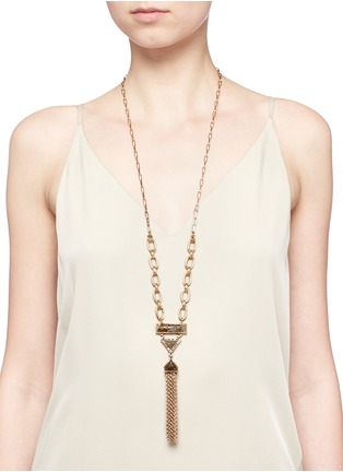 Figure View - Click To Enlarge - LULU FROST - Chatelet' mix gemstone tassel necklace