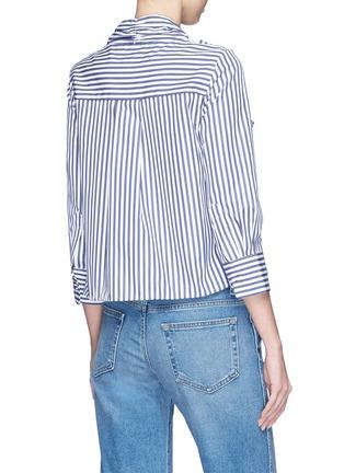 Back View - Click To Enlarge - KHAITE - 'Natalie' bow tie stripe shirt