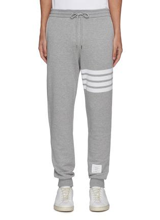 Main View - Click To Enlarge - Thom Browne - Stripe print cotton sweatpants