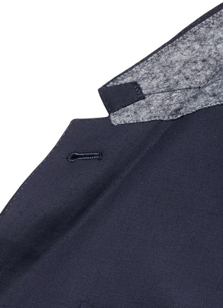 Detail View - Click To Enlarge - Thom Browne - Anchor button wool blazer