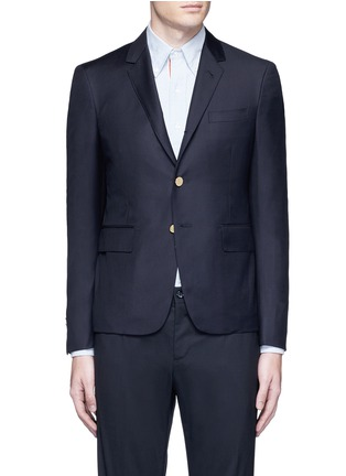 Main View - Click To Enlarge - Thom Browne - Anchor button wool blazer