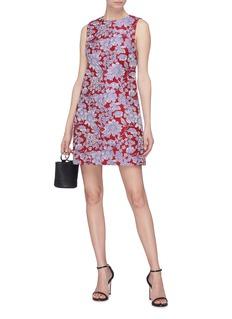 alice + olivia 'Coley' floral print A-line dress