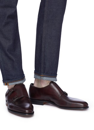 Figure View - Click To Enlarge - JOHN LOBB - 'William' double monk strap leather loafers