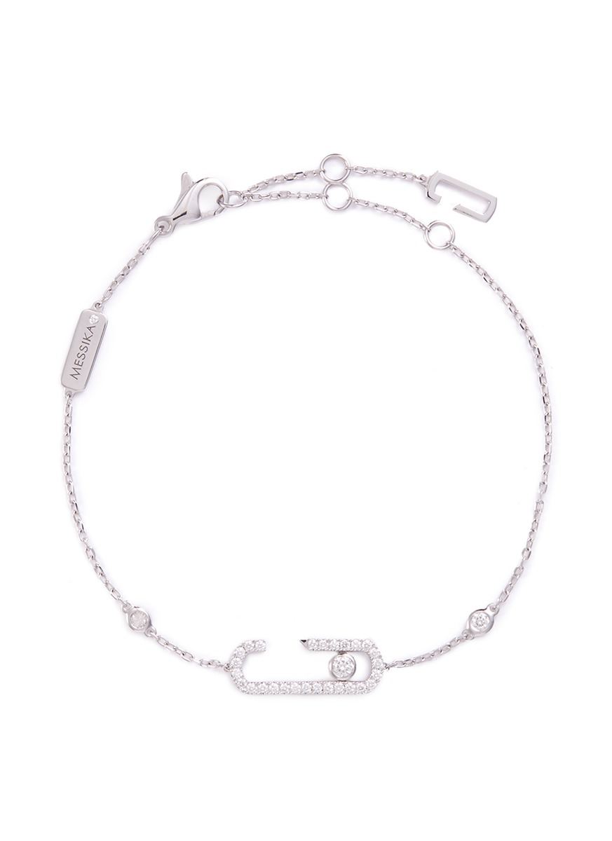 Messika x Gigi Hadid 'Move Addiction Pavé' diamond 18k white gold bracelet