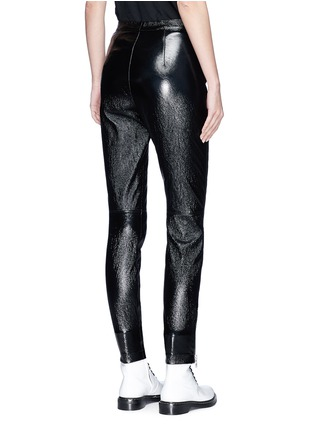 Back View - Click To Enlarge - 3.1 Phillip Lim - Zip cuff metallic leather cropped leggings