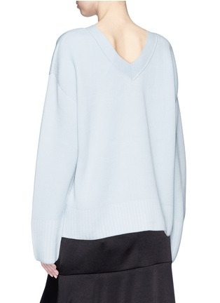 Back View - Click To Enlarge - 3.1 Phillip Lim - V-back silk-cotton sweater