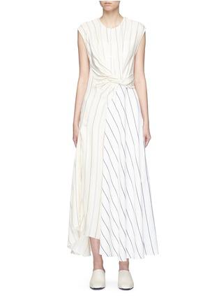 Main View - Click To Enlarge - 3.1 Phillip Lim - Twist stripe patchwork maxi dress