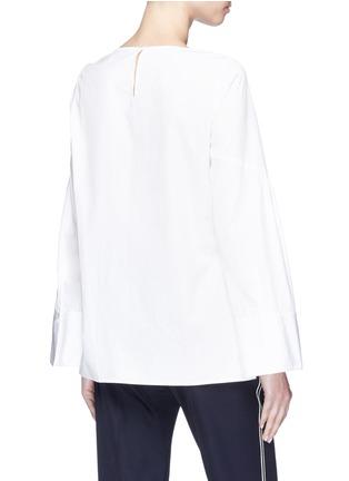 Back View - Click To Enlarge - 3.1 Phillip Lim - Wide sleeve tie poplin top