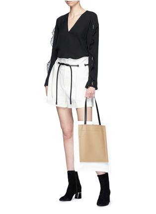 Figure View - Click To Enlarge - 3.1 Phillip Lim - Crépon trim crepe blouse