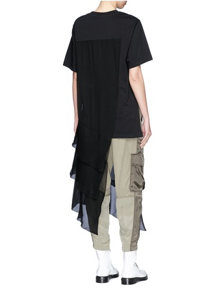 Back View - Click To Enlarge - 3.1 Phillip Lim - Chiffon overlay T-shirt