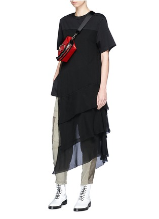 Figure View - Click To Enlarge - 3.1 Phillip Lim - Chiffon overlay T-shirt