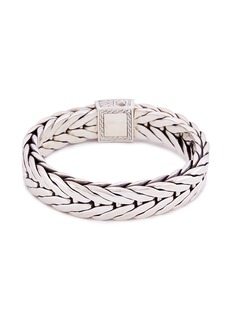 John Hardy Gold silver extra large weave effect link chain bracelet