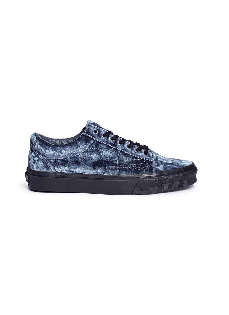Old Skool velvet flatform unisex sneakers by Vans