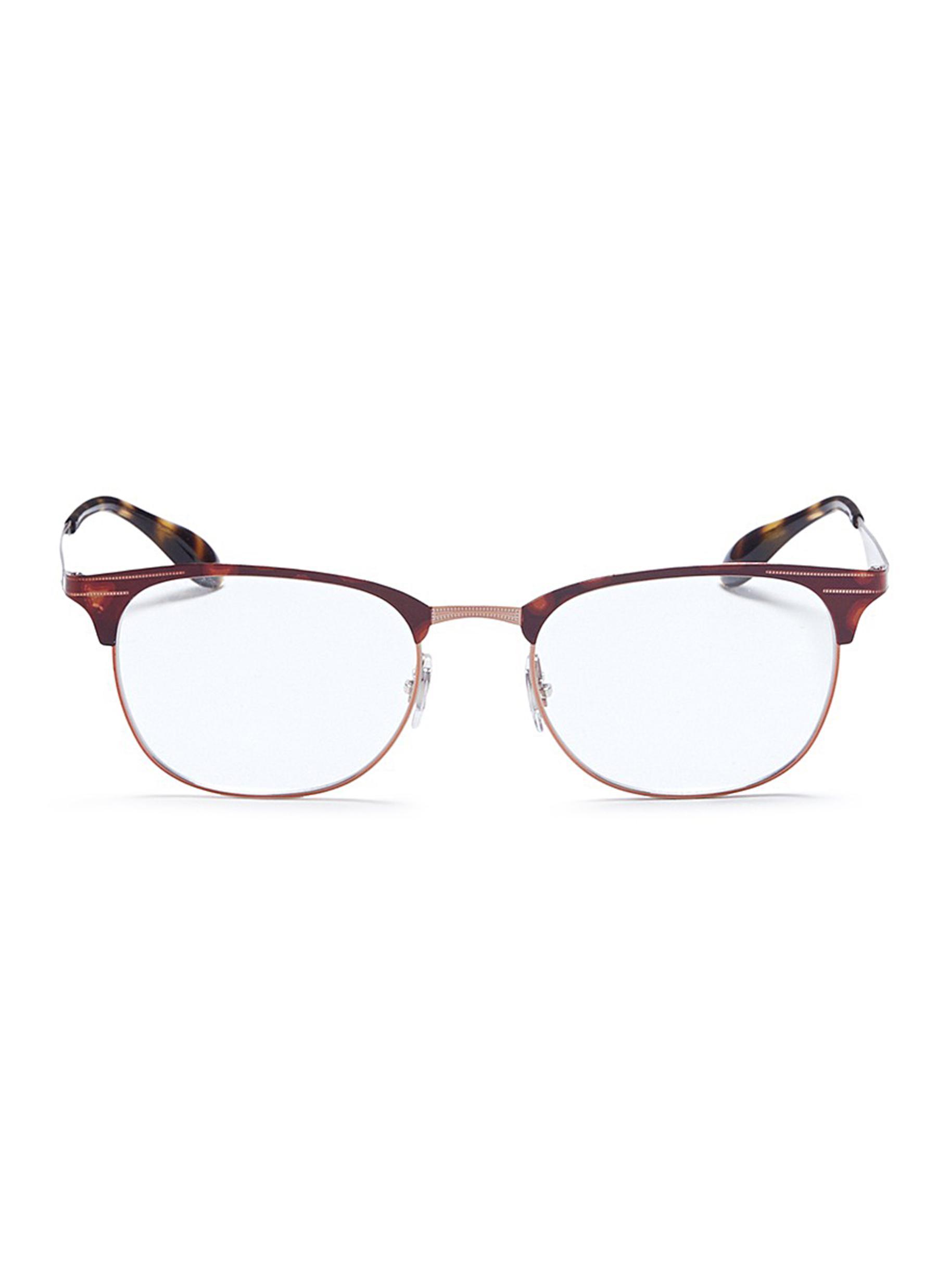 56167217ae Ray Ban  Rb6346  Tortoiseshell Metal Square Optical Glasses