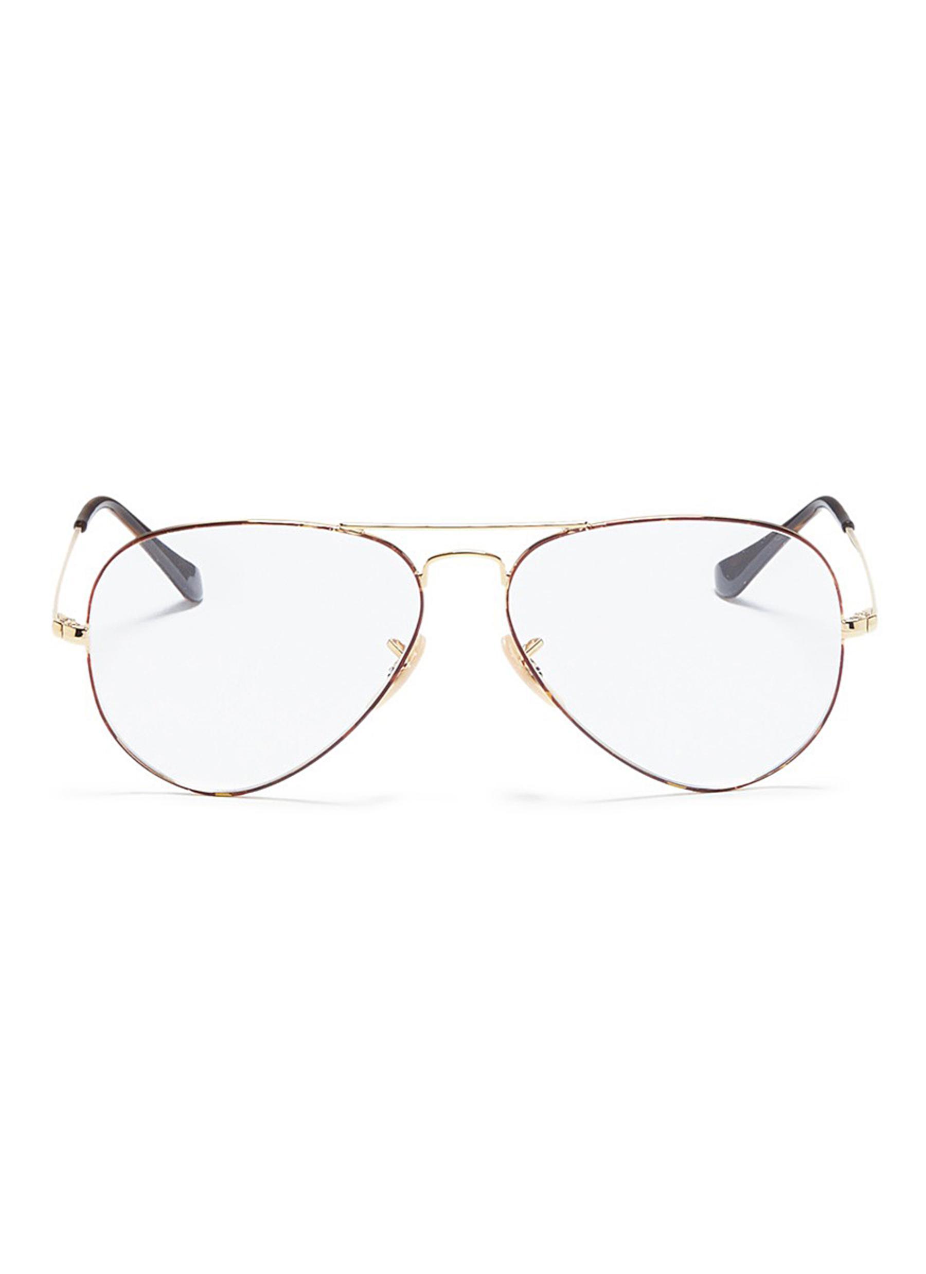ray ban aviator optics tortoiseshell front metal optical glasses Ray-Ban Frames ray ban aviator optics tortoiseshell front metal optical glasses