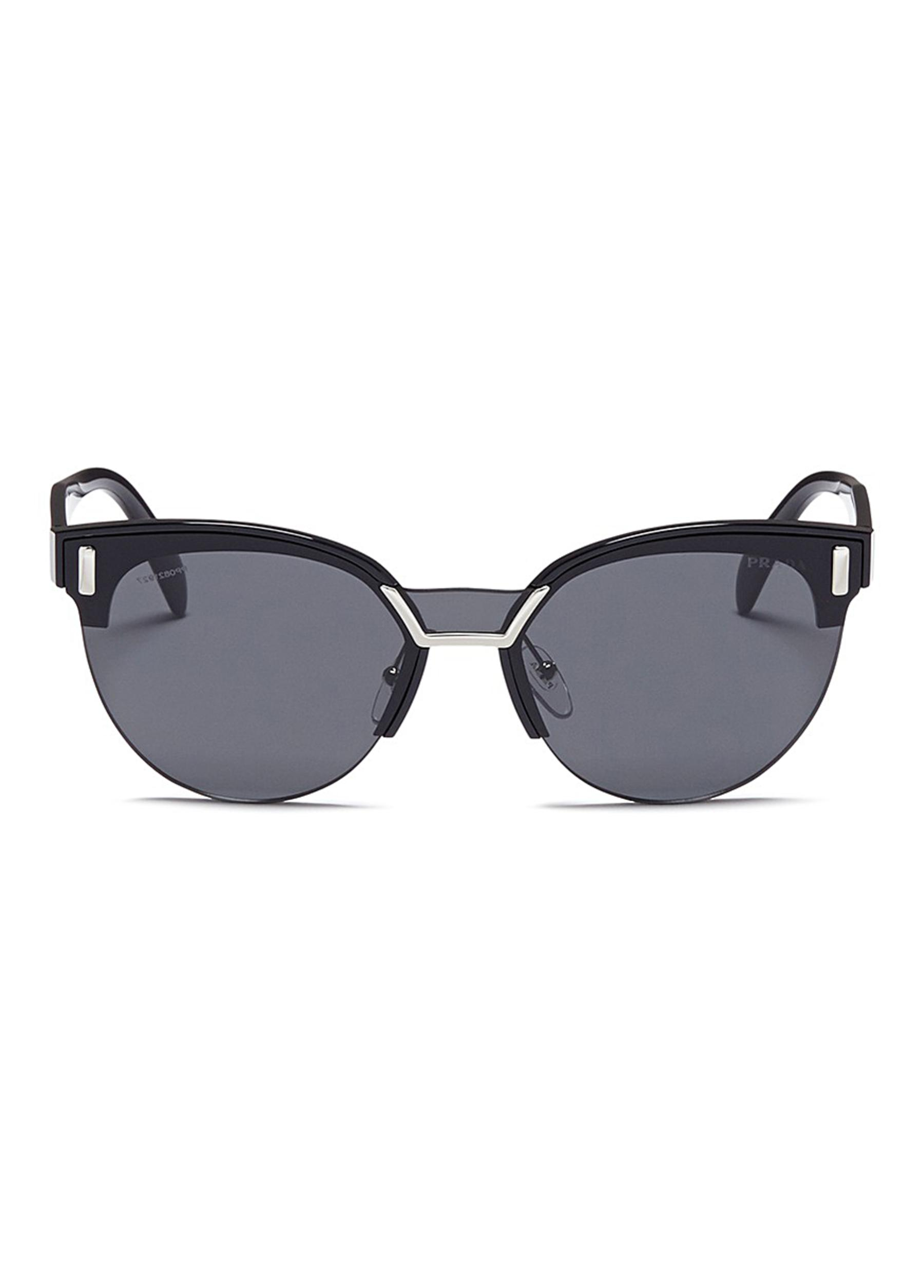 aed5903720 ... switzerland main view click to enlarge prada acetate brow bar round  sunglasses 2ce51 faf54 ...