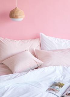 LANE CRAWFORD Organic cotton queen size duvet set –Pink