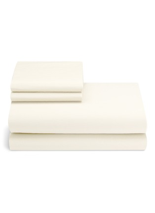 Main View - Click To Enlarge - LANE CRAWFORD - ORGANIC COTTON KING SIZE DUVET SET – IVORY
