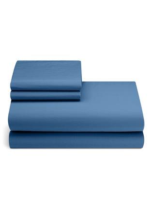 Main View - Click To Enlarge - LANE CRAWFORD - Organic cotton king size duvet set –Blue