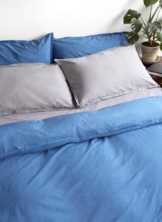 LANE CRAWFORD Organic cotton queen size duvet set – Grey