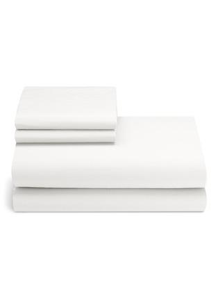 Main View - Click To Enlarge - LANE CRAWFORD - Organic cotton king size duvet set –White