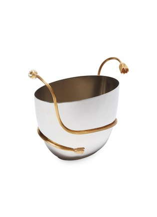 Main View - Click To Enlarge - L'OBJET - Deco Leaves champagne bucket