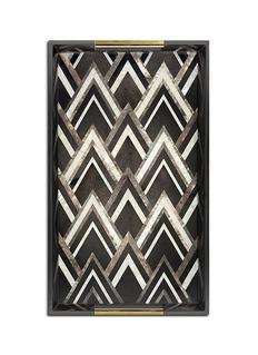 L'Objet Deco Noir large tray