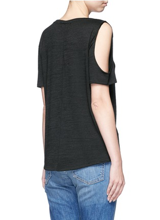 Back View - Click To Enlarge - rag & bone/JEAN - 'Showoff' cutout shoulder T-shirt