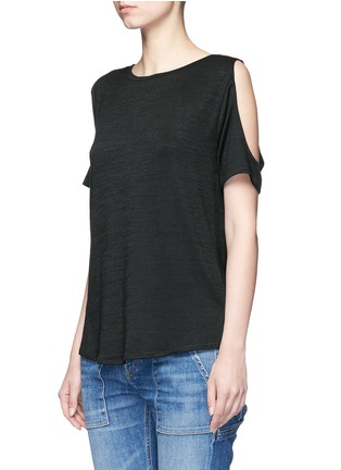Front View - Click To Enlarge - rag & bone/JEAN - 'Showoff' cutout shoulder T-shirt