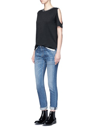 Figure View - Click To Enlarge - rag & bone/JEAN - 'Showoff' cutout shoulder T-shirt