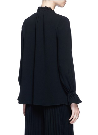 Back View - Click To Enlarge - Co - Gathered crepe blouse
