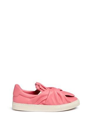 Main View - Click To Enlarge - Ports 1961 - Twist bow leather sneakers