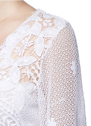 Detail View - Click To Enlarge - Miguelina - 'Lucinda' scalloped lace maxi dress