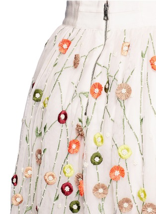 Detail View - Click To Enlarge - alice + olivia - 'Catrina' floral embellished tulle skirt