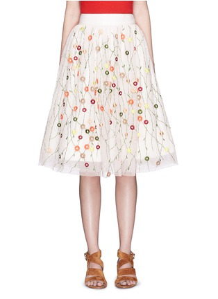 Main View - Click To Enlarge - alice + olivia - 'Catrina' floral embellished tulle skirt