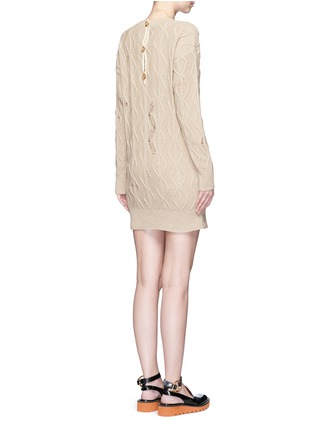 Back View - Click To Enlarge - Stella McCartney - Squiggly cashmere-wool knit dress
