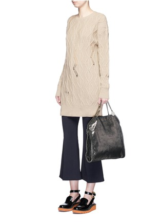 Figure View - Click To Enlarge - Stella McCartney - Squiggly cashmere-wool knit dress