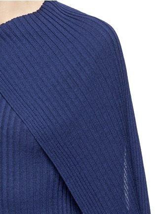 Detail View - Click To Enlarge - The Row - 'Inga' drape neck rib knit wrap top
