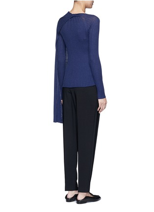 Back View - Click To Enlarge - The Row - 'Inga' drape neck rib knit wrap top