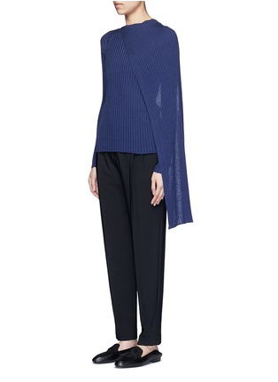 Front View - Click To Enlarge - The Row - 'Inga' drape neck rib knit wrap top